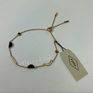 Fossil Jade Gold-Tone Bracelet